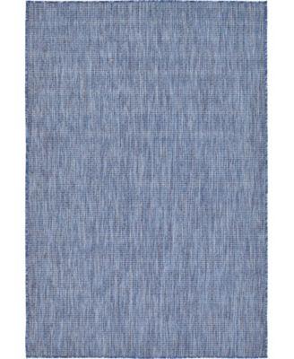 Pashio Pas6 Navy Blue 4' x 6' Area Rug