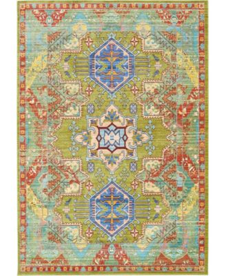 Malin Mal5 Light Green 6' x 9' Area Rug