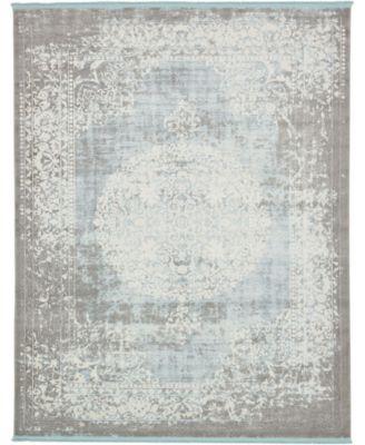 Norston Nor4 Light Blue 8' x 10' Area Rug