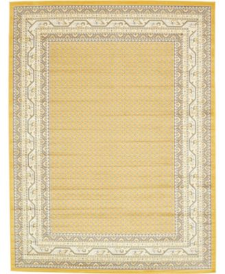 Axbridge Axb1 Yellow 9' x 12' Area Rug