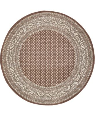 Axbridge Axb1 Brown 8' x 8' Round Area Rug