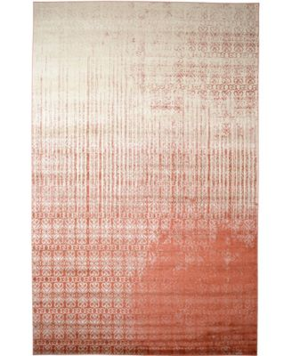"Lyon Lyo2 Red 10' 6"" x 16' 5"" Area Rug"