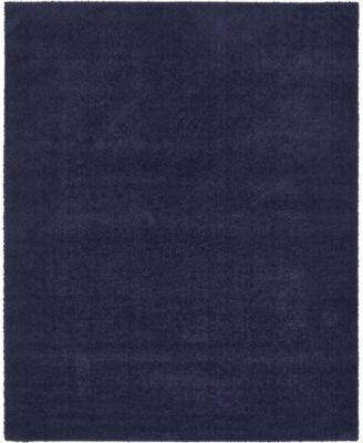 Salon Solid Shag Sss1 Midnight Blue 8' x 10' Area Rug