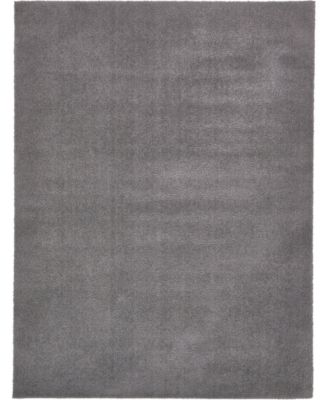 Salon Solid Shag Sss1 Dark Gray 9' x 12' Area Rug