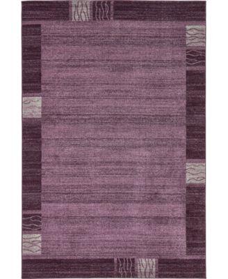 Lyon Lyo1 Purple 6' x 9' Area Rug