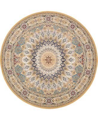 Zara Zar9 Tan 10' x 10' Round Area Rug