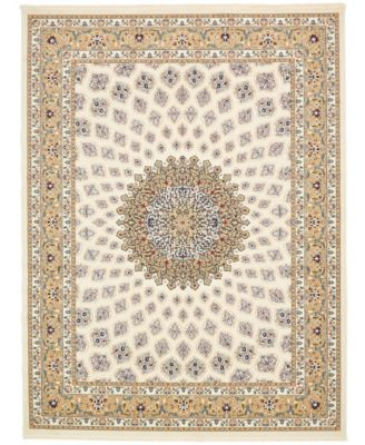 Zara Zar1 Ivory 10' x 13' Area Rug