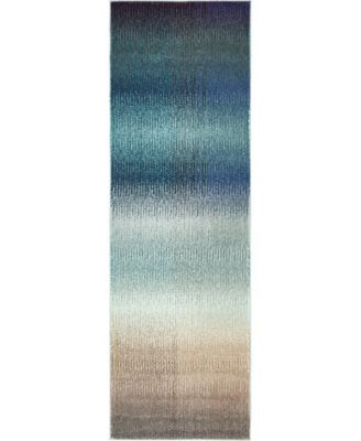 "Newwolf New1 Blue 2' 2"" x 6' 7"" Runner Area Rug"