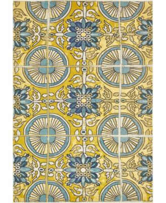 Newwolf New5 Gold 7' x 10' Area Rug