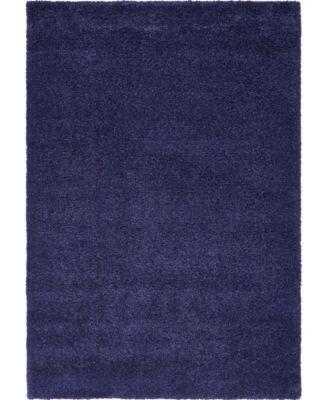 """Uno Uno1 Navy Blue 5' x 7' 7"""" Area Rug"""