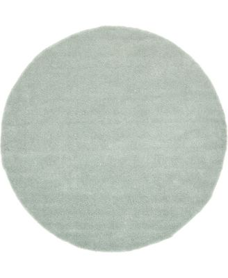 Uno Uno1 Light Blue 8' x 8' Round Area Rug