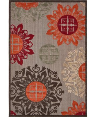 Pashio Pas4 Brown 6' x 9' Area Rug