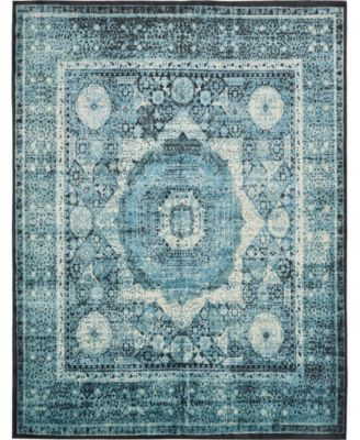 """Linport Lin7 Turquoise 13' x 19' 8"""" Area Rug"""