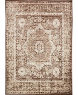 "Linport Lin7 Chocolate Brown 8' x 11' 6"" Area Rug"