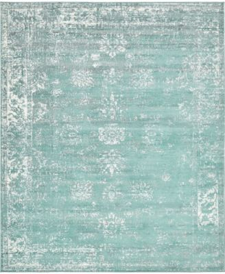 Basha Bas1 Turquoise 7' x 10' Area Rug