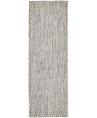 Pashio Pas6 Light Gray 2' x 6' Runner Area Rug