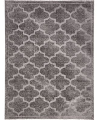 Filigree Shag Fil2 Dark Gray 9' x 12' Area Rug