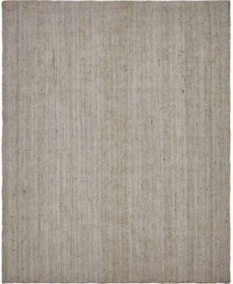 Braided Jute B Bjb5 Gray 8' x 10' Area Rug