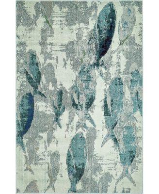 Ikbal Ikb6 Light Blue 4' x 6' Area Rug