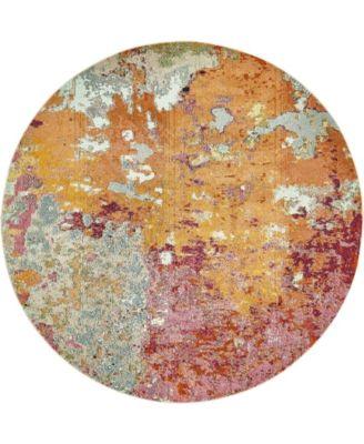 Crisanta Crs1 Multi 8' x 8' Round Area Rug