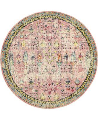 Newhedge Nhg6 Pink 8' x 8' Round Area Rug