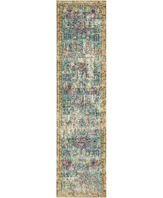 "Newhedge Nhg6 Blue 2' 7"" x 10' Runner Area Rug"