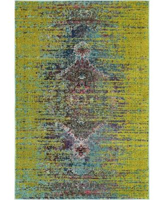 Brio Bri6 Green 4' x 6' Area Rug