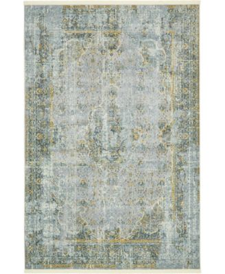 "Kenna Ken1 Gray 5' 5"" x 8' Area Rug"