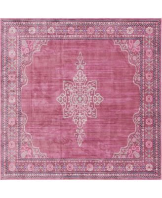 Malin Mal2 Pink 8' x 8' Square Area Rug