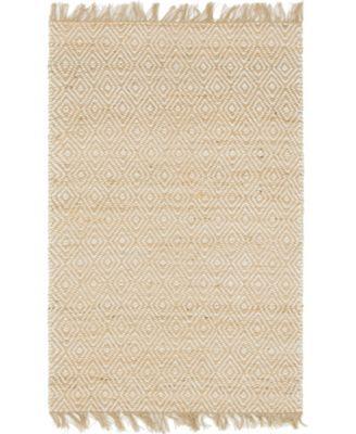 Braided Tones Brt3 Natural/White 4' x 6' Area Rug