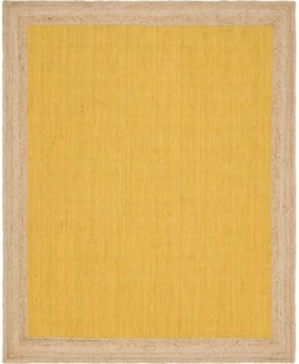 Braided Jute A Bja4 Yellow 8' x 10' Area Rug