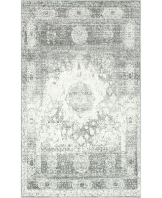 Mishti Mis4 Gray 5' x 8' Area Rug