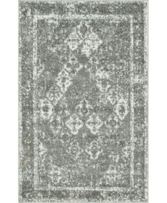 Mishti Mis2 Gray 4' x 6' Area Rug