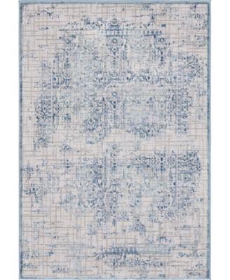 Aitana Ait2 Blue 4' x 6' Area Rug