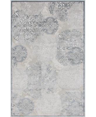 Aitana Ait3 Gray 5' x 8' Area Rug