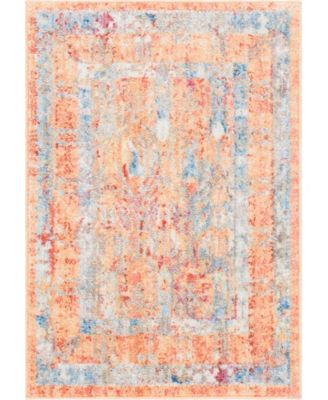 "Zilla Zil2 Orange 2' 2"" x 3' Area Rug"