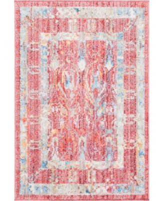"""Zilla Zil2 Red 2' 2"""" x 3' Area Rug"""