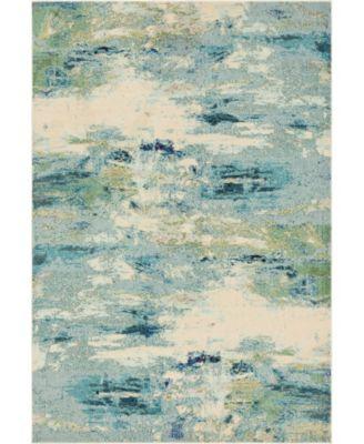 Crisanta Crs7 Light Blue 7' x 10' Area Rug