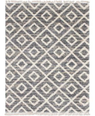 Lochcort Shag Loc2 Gray 9' x 12' Area Rug