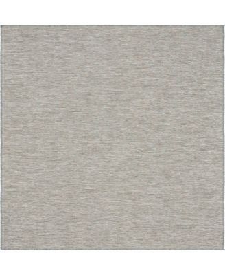 "Pashio Pas8 Light Gray 10' 2"" x 10' 3"" Square Area Rug"