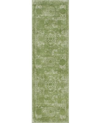 """Mobley Mob2 Green 2' x 6' 7"""" Runner Area Rug"""