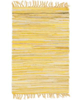 "Jari Striped Jar1 Yellow 2' 2"" x 3' Area Rug"