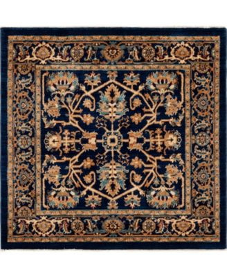 "Thule Thu1 Navy Blue 4' 5"" x 4' 5"" Square Area Rug"