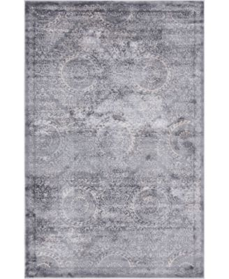 Anika Ani3 Gray 5' x 8' Area Rug