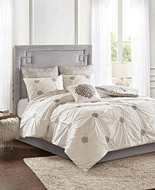 Madison Park Malia Embroidered Cotton Reversible Comforter Sets