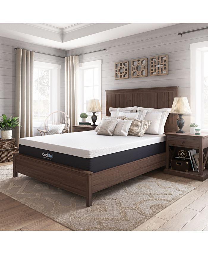 "Sleep Trends - Ladan King 12"" Cool Gel Memory Foam Plush Mattress, Direct Ship"
