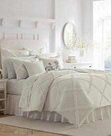 Laura Ashley Adelina White Comforter Set, Twin