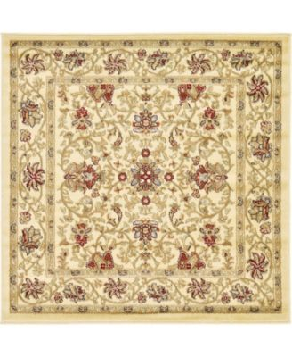 Passage Psg6 Ivory 4' x 4' Square Area Rug