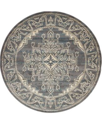 Aroa Aro8 Gray 8' x 8' Round Area Rug