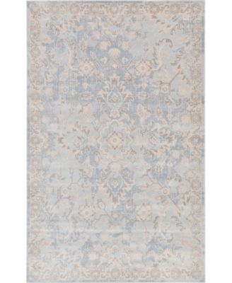 Caan Can7 Light Blue 5' x 8' Area Rug